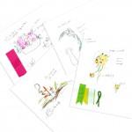 ブライダルフラワーのデザイン画