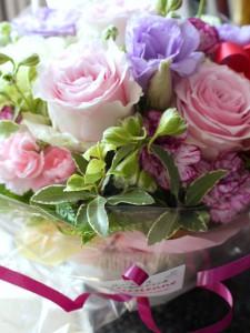 母の日アレンジメント ピンク~パープル系